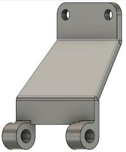 Custom steel bracket motor mount for Delta table saw 422390140006 36-630 36-635