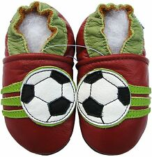 carozoo soccer dark red 6-12m soft sole leather baby shoes