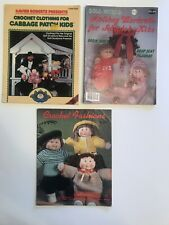 Lot Of 3 Cabbage Patch Kids Doll Clothing Crochet & Sewing Patterns Magazines