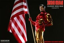 Sideshow Comiquette Marvel Avenger Iron Man With Flag Exclusive