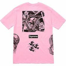 Supreme Mc Escher Collage Tee Pink Medium