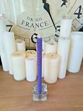 "BEESWAX CANDLES 8"" BLUE. HANDMADE IN THE UK. FREE DELIVERY"