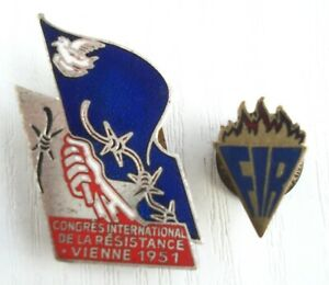 Badge International Federation of Resistance Fighters Congres Vienne 1951 France