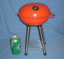 BBQ Kettle Grill Miniature Mini Red/Orange Toy Planter Doll Salesman Sample Size