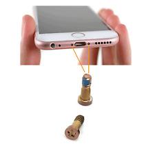 NEW GENUINE 2X FOR IPHONE 6S ROSE BOTTOM PENTALOBE DOCK SCREWS SET PART