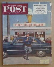 SATURDAY EVENING POST September 22 1951 PETE'S DOUBLE HEADERS-Movie ad-KEN RILEY