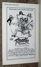 Roadie original1980 movie pressbook Meat Loaf/Alice Cooper/Blondie/Deborah Harry
