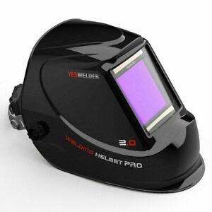 YESWELDER True Color Solar Powered Auto Darkening Welding Helmet, Wide Shade 4/9