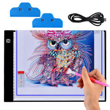 DIY 5D Diamond Painting LED Light Board Table Pad Ultrathin 3.5mm Drawing Pad A4