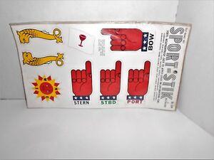 "Vintage 1970's NOS SPORT-STIK 'BOAT SET"" Vinyl DECAL By MEYERCORD Sticker-NIP"