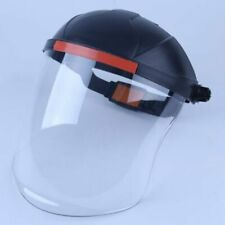 Head Mounted Full Face Shield Clear Protective Screen Cover For Safety Gear New