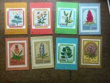8 Portugal Flower Stamp Postcards 1981 #4869