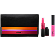 MAC Enchanted Eve Viva Glamorous Set Shimmer Lipglass Lipstick Duo Makeup Bag