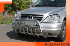 MERCEDES ML 1998-2001 PARE-BUFFLE BAS AVEC GRILLE DE PROTECTION CARTER EN INOX