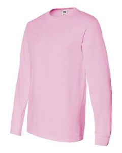 NEW Fruit Of The Loom T-Shirt Tee 5.6 oz Heavy Cotton Men's Long Sleeve 4930