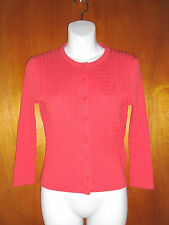 LILLY PULITZER Women's Cotton Cable Knit Cardigan Bright Red/Orange SZ:XS NWOT
