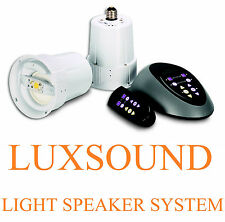 SOUNDLUX ~ MULTI ROOM LED LIGHT & WIRELESS SPEAKER SYSTEM ~ USES STANDARD SOCKET