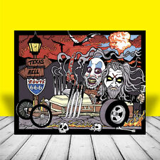 Rob Zombie & Captain Spaulding DRAGULA ART artist signed, house of 1000 corpses