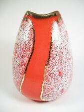 Mid Century Modern - Glazed & Gilded Ceramic Vase - Germany - Circa 1960's