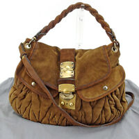 miumiu Shoulder bag Materasse Brown Gold Woman Authentic Used L1143