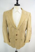 VTG Orvis Half Norfolk Corduroy Leather Buttons Elbow Patch Throat Latch 42L