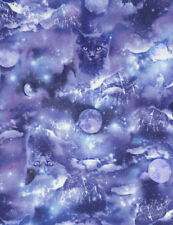 Cats Mystic Galaxy In Space Cotton Quilting Fabric 1/2 YARD