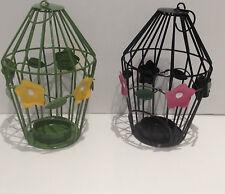 Bird Cage Metal Candle & Tea Light Holders