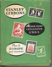 Stanley Gibbons postage stamp catalogue 1965 part 2 Europe and colonies HB DJ