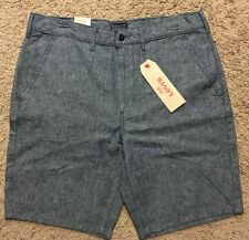 NWT Men Levis Chino Straight Light Blue Shorts Size 36 MSRP $50
