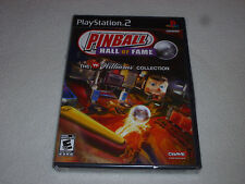 FACTORY SEALED BRAND NEW PLAYSTATION 2 PS2 GAME PINBALL HALL OF FAME WILLIAMS >>