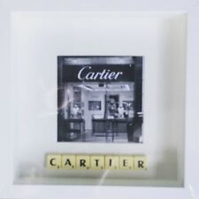 WHITE FRAME CARTIER PHOTO SCRABBLE TILE PICTURE SIMPLY STUNNING