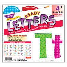 Colourful Patterns 4-Inch Combo Classroom Display Ready Letters - 216 Characters