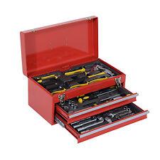 HOMCOM Tool Chest Box Portable Storage Garage Toolbox 2 Drawers Cabinet Mechanic