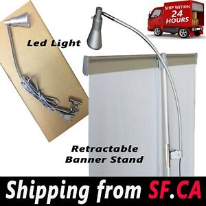 Display (2 in 1 box) Light Banner Stand Lamp for Retractable Roll Up Stand Booth
