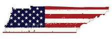 Tennessee State (J43) USA Flag Distressed Vinyl Decal Sticker Car/Truck Laptop