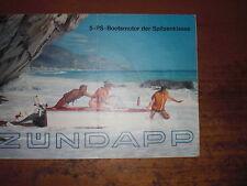 Prospekt Sales Brochure Zündapp Bootsmotor Wassersport Jacht Marine  автомобиль