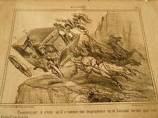 Litho 1856 Commetre une imprudence en se laissant mener par son Frère Constantin