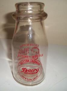 VINTAGE GLASS MILK BOTTLE - JACKSON CREAMERY, JACKSON, CALIF. - 1/2 pint