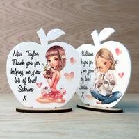 Personalised Apple Teacher Gifts School Nursery School Leaving Thank You Present