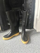 Marc Jacobs Black Yellow Sole Festival Wellies Boots Size 5