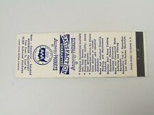 AG323 Matchbook Cover Amway products business opportunity pyramid scheme
