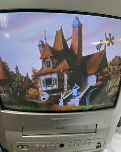 "14"" Magnavox CRT Tube TV VCR Combo (Working 100%) MC132EMG Great Retro Gaming"