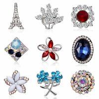 New Fashion Rhinestone Crystal Flower Wedding Bridal Bouquet Enamel Brooch Pin