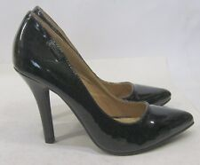 "Womens Black Wet 4"" High Heel Pointy Toe Sexy Shoes Size 8"