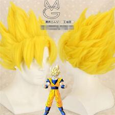Dragon Ball Z Goku De Oro Rubio Juegos con disfraces Disfraz Peluca Estilo Cabello + Casquillo de la peluca