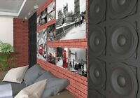 *Dynamic* 3D Decorative Wall Panels 1 pcs ABS Plastic mold for Plaster