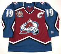 JOE SAKIC 1996 STANLEY CUP STARTER NHL COLORADO AVALANCHE JERSEY X-LARGE MAROON