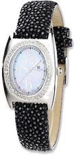 Ladies Charles Hubert Black Stingray 0.75ctw Diamond 29x32mm Watch
