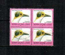 SIERRA LEONE Scott's 1546Af Bare-headed Rock-fowl F/VF used block of 4 ( 2006 )