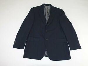 Pronto Uomo Men's Sport Coat Size 37 Short Black 100% Wool Blazer Jacket 37S